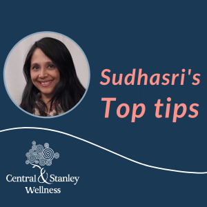 Sudhasri's Top Tips for staying positive and maintaining balance in uncertain times: